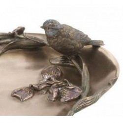 Taca z irysem i ptaszkiem Veronese AN10507A4