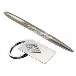 Prezent dla NIEJ - brelok z cyrkoniami i długopis  GB130 / Hinz