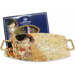 """Talerz dekoracyjny Gustav Klimt """"Pocałunek"""" 198-7031"""