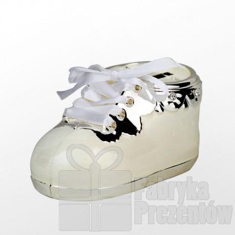 Bucik skarbonka z kryształkami - biały 473-3285