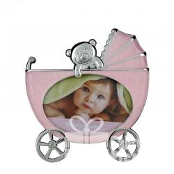Ramka wózek różowy z misiem 473-3240