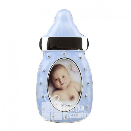 Ramka w kształcie butelki niebieska 347-3189