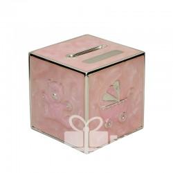 Skarbonka sześcian różowa 473-3261