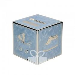 Skarbonka sześcian niebieska 473-3262