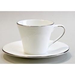 BIANCA Filiżanka do herbaty 200 ml ze spodkiem / Villa Italia
