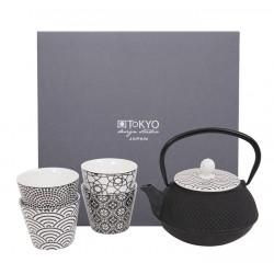 Zestaw 4 kubków i imbryka - Nippon Black Giftsets/ TOKYO