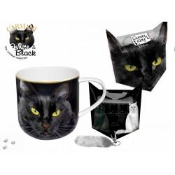 Kubek - czarny kot + pudełko z ogonkiem 017_0024