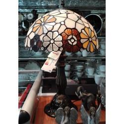 Lampa witrażowa z mozaiką kwiatów
