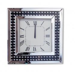 Kwadratowy, KRYSZTAŁOWY zegar ścienny Busca
