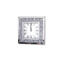 Kwadratowy, KRYSZTAŁOWY zegar ścienny Alviano