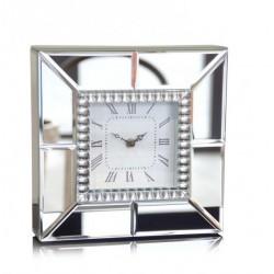 Kwadratowy LUSTRZANY zegar stojący z efektem 3D