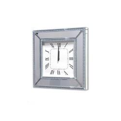 Kwadratowy LUSTRZANY zegar ścienny Della
