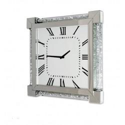 Kwadratowy LUSTRZANY zegar ścienny Pazzi