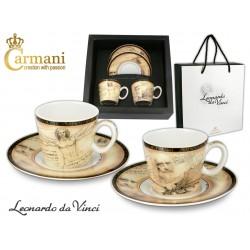 Kpl. 2 filiżanek do espresso - Leonardo da Vinci 032-0707
