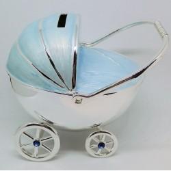 JEŻDŻĄCY wózek niebieski  SKARBONKA 473-3263
