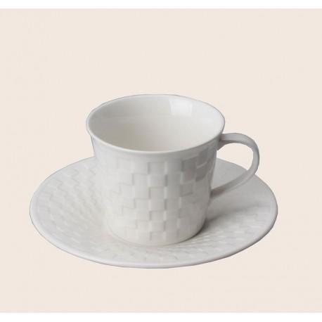 Filiżanka do herbaty CRYSTAL CHESS ze spodkiem 200 ml