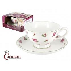 Filiżanka ze spodeczkiem- Delikatne kwiaty- Carmani 840-2311