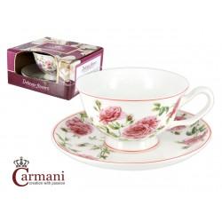 Filiżanka ze spodeczkiem- Pnąca Róża- Carmani 840-2310