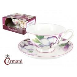 Filiżanka ze spodeczkiem- Różowa Magnolia- Carmani 840-2309