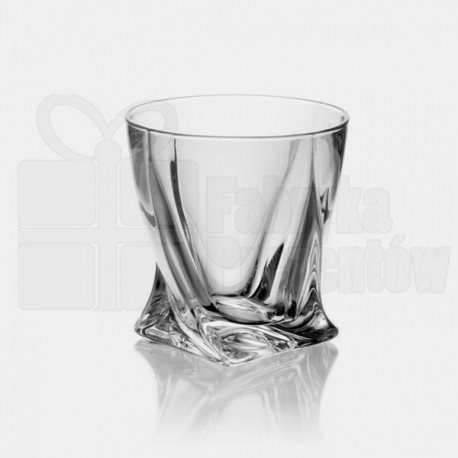 Karafka 850ml i szklanki do whisky Quadro - 6szt. / 822-0007