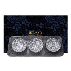 Zestaw taca z trzema talerzami - Nippon Black Giftsets / TOKYO 15924