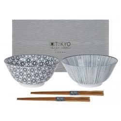 Zestaw dwóch misek do sushi - Nippon Black Tayo Bowl / TOKYO 16070