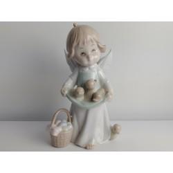Figurka Anioł trzymający kaczki