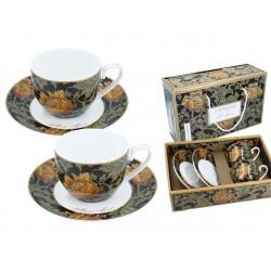 Kpl. 2 filiżanek ze spodkami - William Morris 834-0103