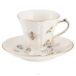 Filiżanka do herbaty porcelanowa ze spodkiem 270 ml AURA Villa Italia RA840